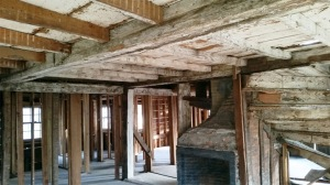 Interior framing of the Isaac Lord house in Ipswich
