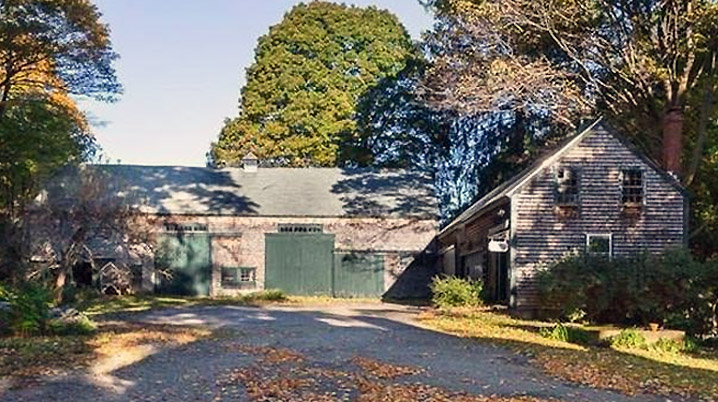 3 bay English style barn at 201 Larch Row  in Wenham