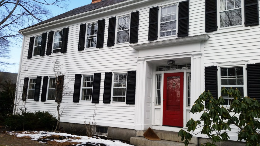 front entry sidelights and rectangular transoms were probably installed in the early Greek Revival era,