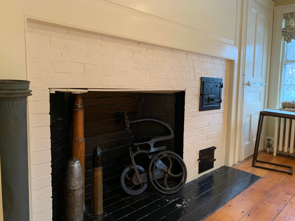 upstairs cooking fireplace directly above the downstairs kitchen