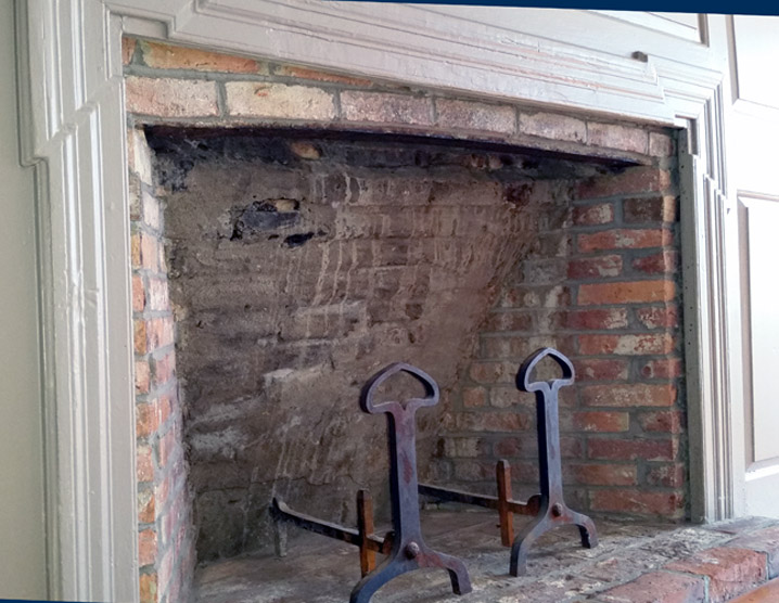 Fireplace, west side of the Edward Browne house, 27 High St. in Ipswich