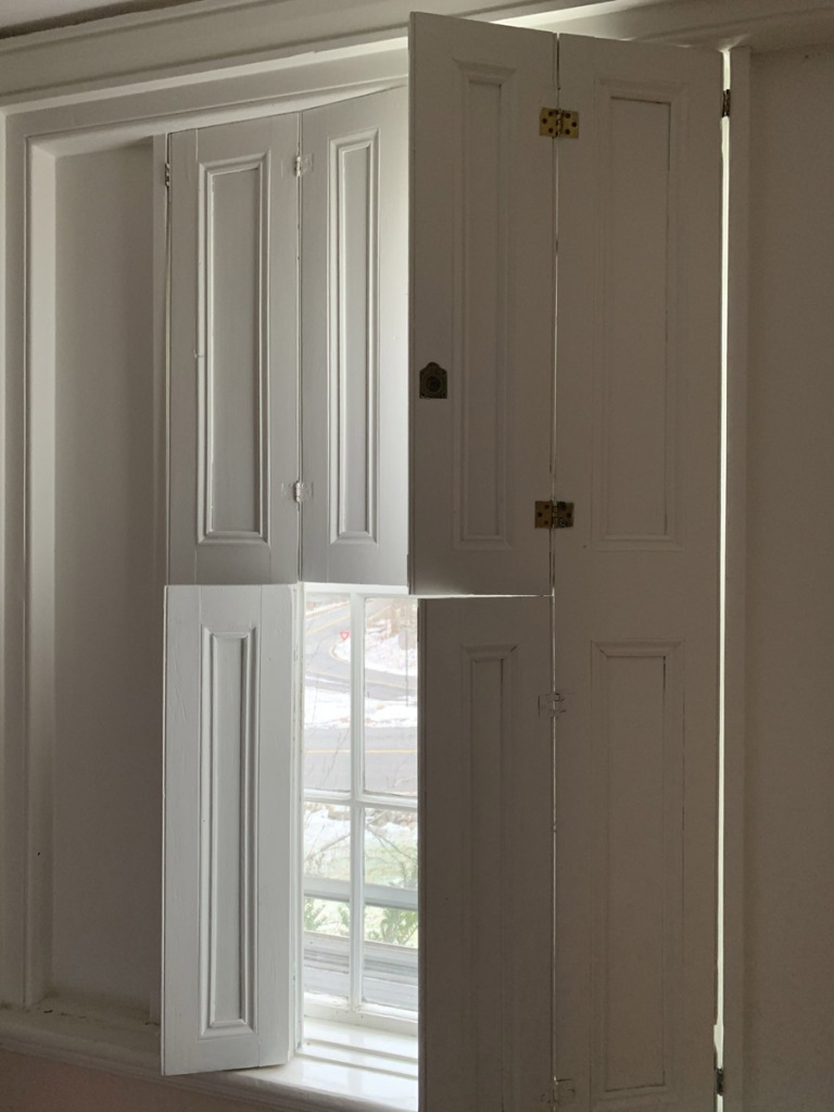 interior window shutters in Federal house