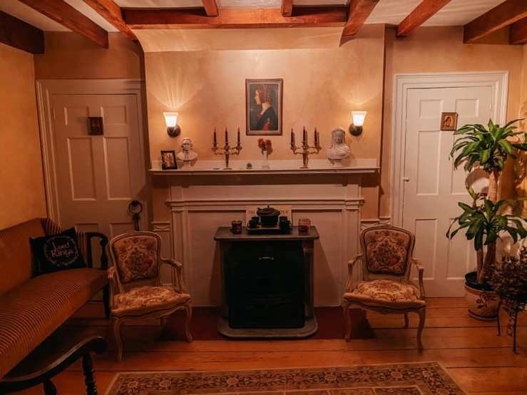 A room in the Mighill-Perley house at 100 Main St. in Rowley MA