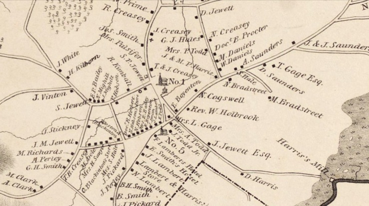 1830 Rowley map