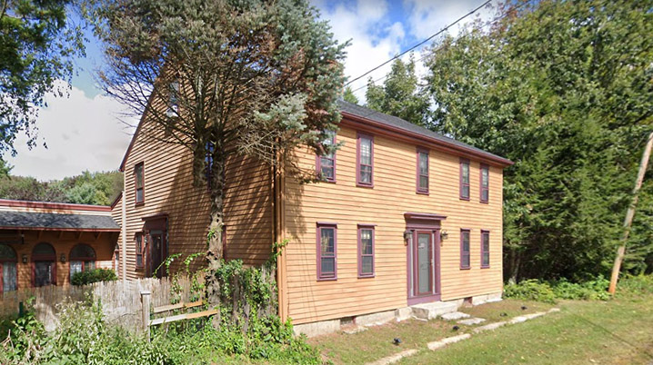 The Andover assessors site gives a date of 1766 for the house at 249 River Rd., which is confirmed by its balanced façade, two-room depth, and central chimney.