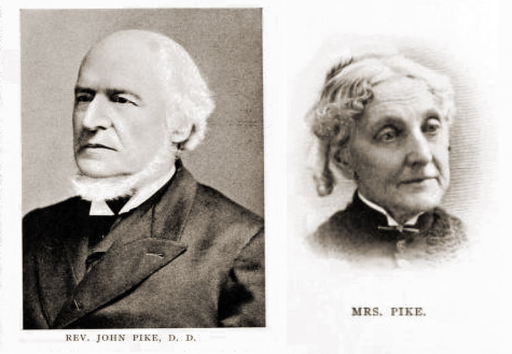 Rev. John Pike of Rowley and his wife Deborah