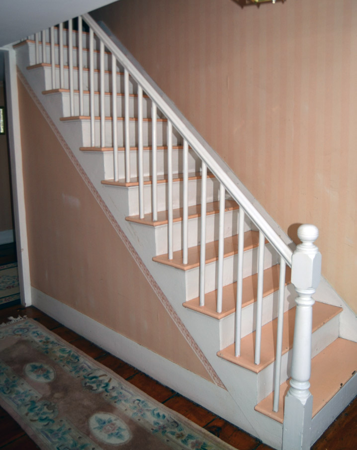 Stairway at 204 Dodge St. in Rowley