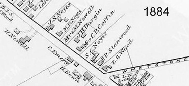 254 Main St. in the 1884 W. Newbury map