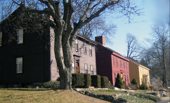 16th and 17th Century houses on High St. in Ipswich MA