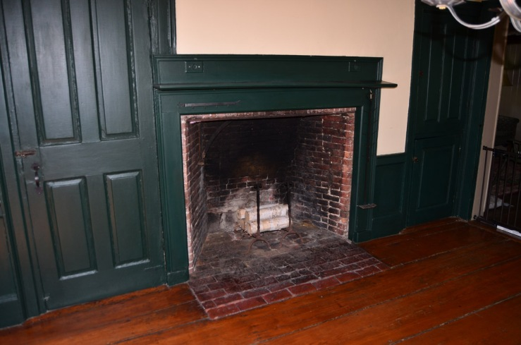 Second floor fireplace in the William Follansbee house