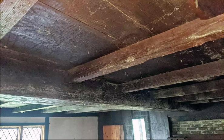 joist, floor boards and summer beam, 30 East St., Ipswich