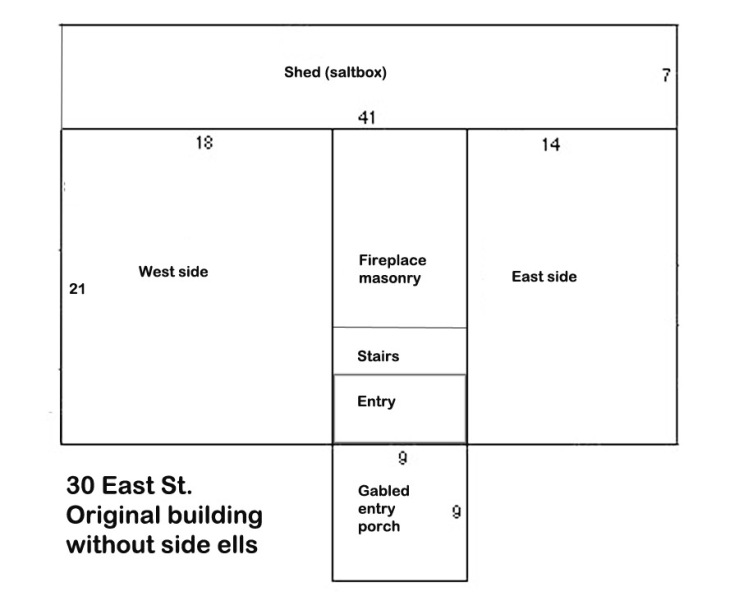 30 East St. Ipswich First Period dimensions
