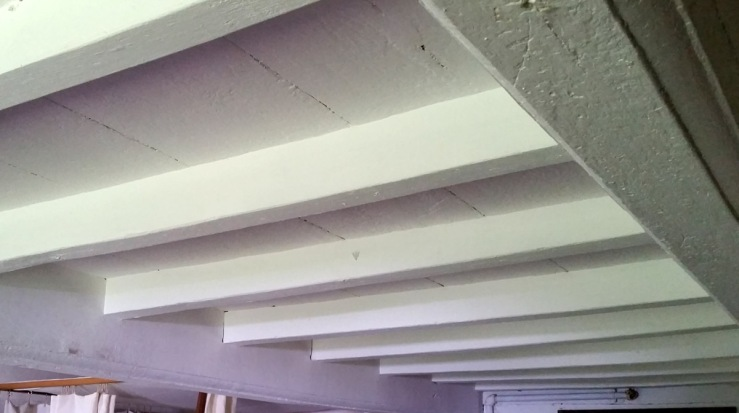 Parlor double summer beams in the Parson Capen house
