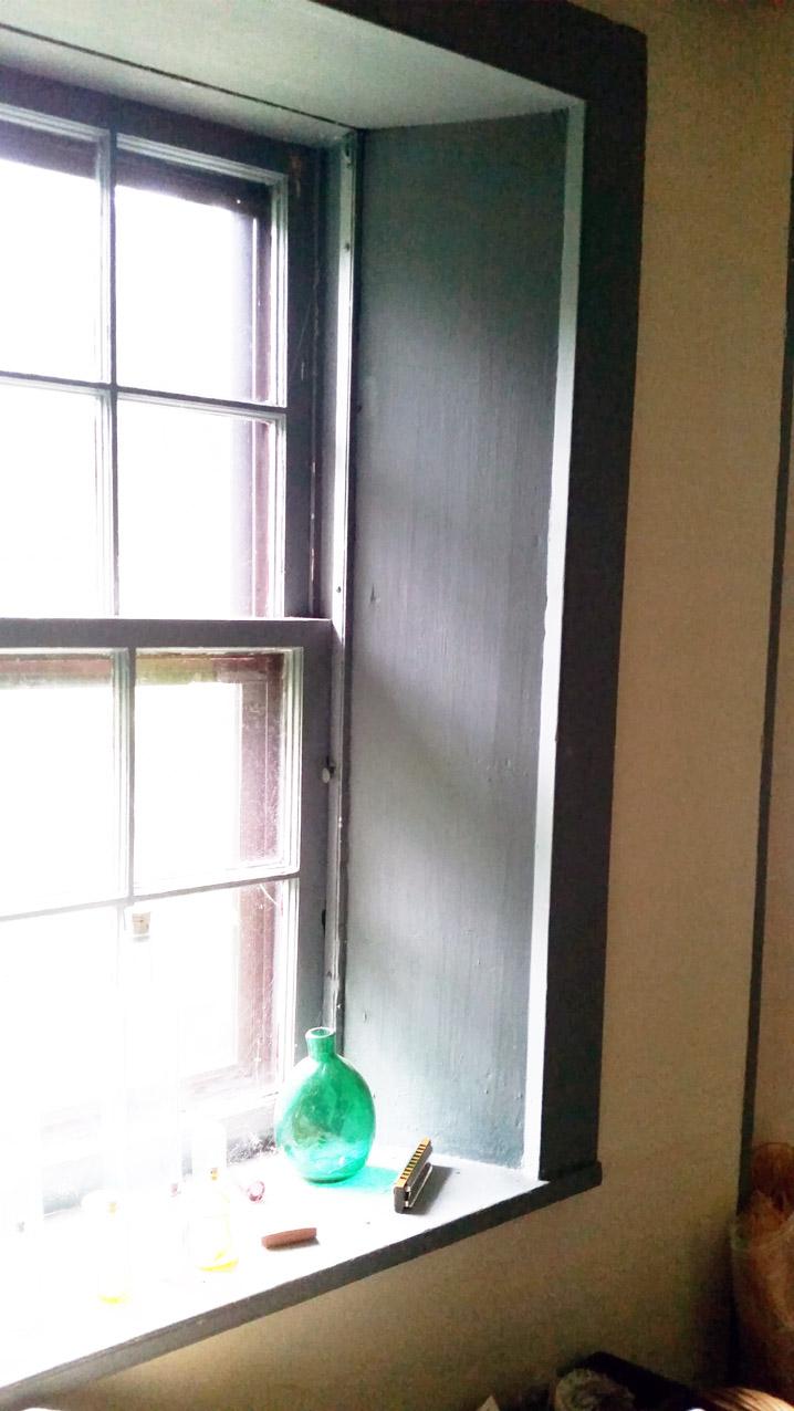 Window in the Joseph Gould house in Topsfield