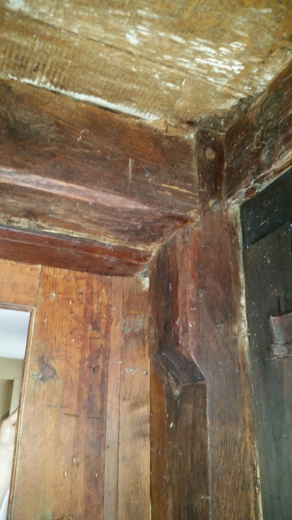 Post and beam in the in the Capt. Joseph Gould house
